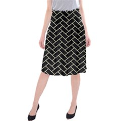 BRK2 BK-MRBL BG-LIN Midi Beach Skirt