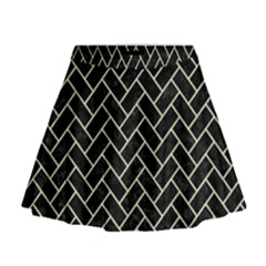 BRK2 BK-MRBL BG-LIN Mini Flare Skirt