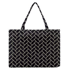 BRK2 BK-MRBL BG-LIN Medium Zipper Tote Bag