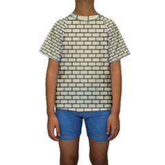 BRK1 BK-MRBL BG-LIN (R) Kids  Short Sleeve Swimwear