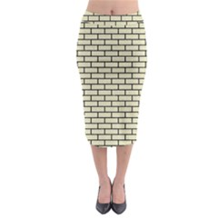 BRK1 BK-MRBL BG-LIN (R) Midi Pencil Skirt