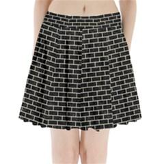 BRK1 BK-MRBL BG-LIN Pleated Mini Skirt