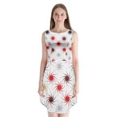 Pearly Pattern Sleeveless Chiffon Dress