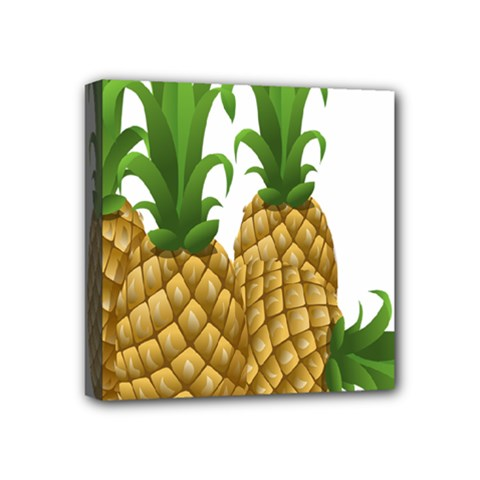 Pineapples Tropical Fruits Foods Mini Canvas 4  x 4