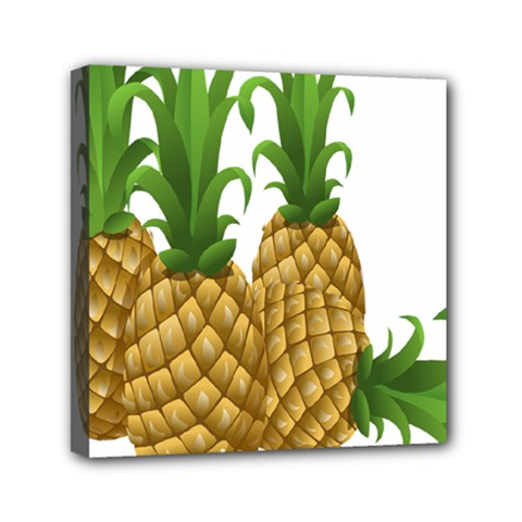 Pineapples Tropical Fruits Foods Mini Canvas 6  x 6