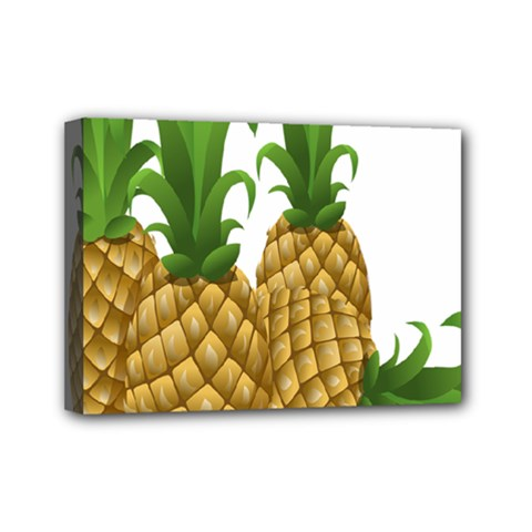 Pineapples Tropical Fruits Foods Mini Canvas 7  x 5
