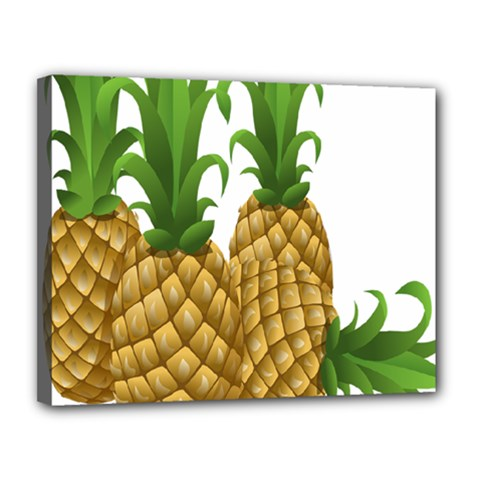 Pineapples Tropical Fruits Foods Canvas 14  x 11