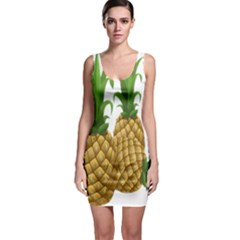 Pineapples Tropical Fruits Foods Sleeveless Bodycon Dress