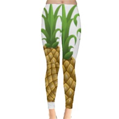 Pineapples Tropical Fruits Foods Leggings