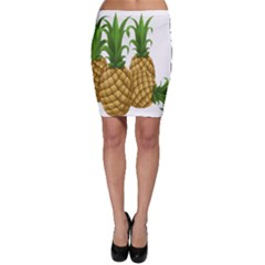 Pineapples Tropical Fruits Foods Bodycon Skirt