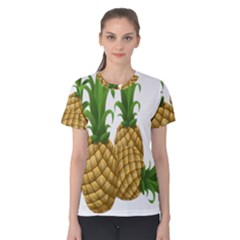 Pineapples Tropical Fruits Foods Women s Cotton Tee
