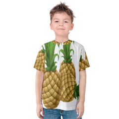 Pineapples Tropical Fruits Foods Kids  Cotton Tee