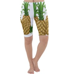 Pineapples Tropical Fruits Foods Cropped Leggings