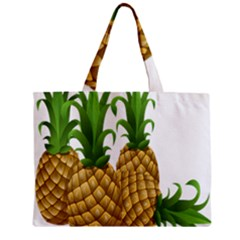 Pineapples Tropical Fruits Foods Zipper Mini Tote Bag