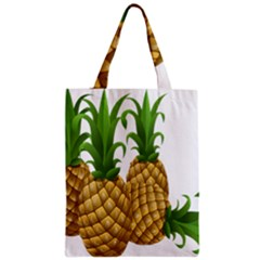 Pineapples Tropical Fruits Foods Zipper Classic Tote Bag