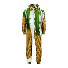 Pineapples Tropical Fruits Foods Hooded Jumpsuit (kids)