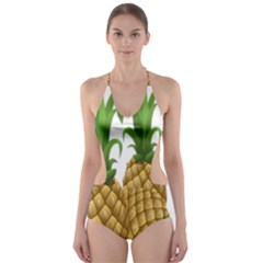 Pineapples Tropical Fruits Foods Cut-Out One Piece Swimsuit