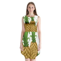 Pineapples Tropical Fruits Foods Sleeveless Chiffon Dress