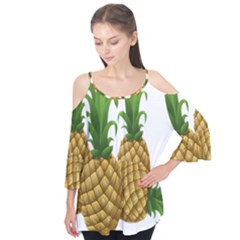 Pineapples Tropical Fruits Foods Flutter Tees