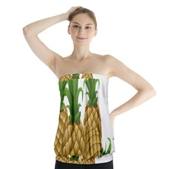 Pineapples Tropical Fruits Foods Strapless Top