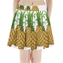 Pineapples Tropical Fruits Foods Pleated Mini Skirt