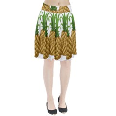 Pineapples Tropical Fruits Foods Pleated Skirt