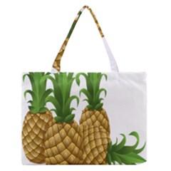 Pineapples Tropical Fruits Foods Medium Zipper Tote Bag