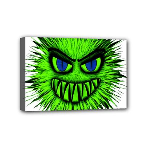 Monster Green Evil Common Mini Canvas 6  x 4