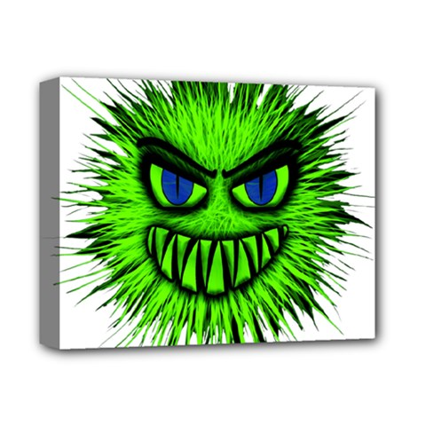 Monster Green Evil Common Deluxe Canvas 14  x 11