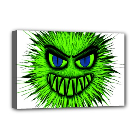 Monster Green Evil Common Deluxe Canvas 18  x 12