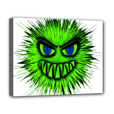 Monster Green Evil Common Deluxe Canvas 20  x 16
