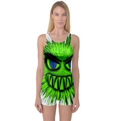 Monster Green Evil Common One Piece Boyleg Swimsuit