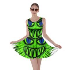 Monster Green Evil Common Skater Dress