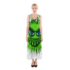Monster Green Evil Common Sleeveless Maxi Dress