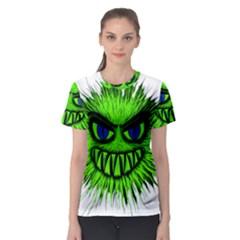 Monster Green Evil Common Women s Sport Mesh Tee