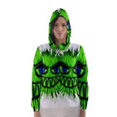 Monster Green Evil Common Hooded Wind Breaker (Women)