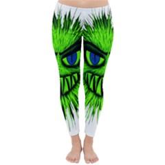 Monster Green Evil Common Classic Winter Leggings
