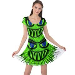 Monster Green Evil Common Cap Sleeve Dresses