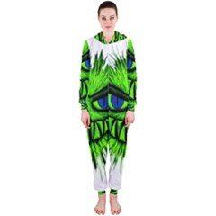 Monster Green Evil Common Hooded Jumpsuit (ladies)
