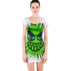 Monster Green Evil Common Short Sleeve Bodycon Dress