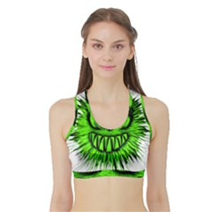 Monster Green Evil Common Sports Bra with Border