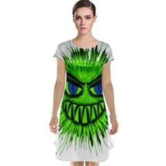 Monster Green Evil Common Cap Sleeve Nightdress