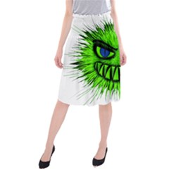 Monster Green Evil Common Midi Beach Skirt