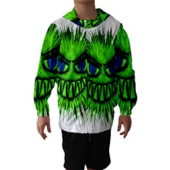 Monster Green Evil Common Hooded Wind Breaker (Kids)