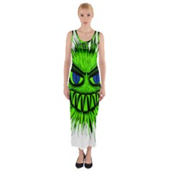 Monster Green Evil Common Fitted Maxi Dress