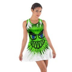 Monster Green Evil Common Cotton Racerback Dress