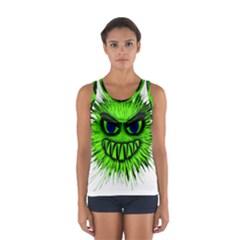 Monster Green Evil Common Women s Sport Tank Top