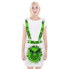 Monster Green Evil Common Suspender Skirt