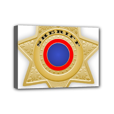Sheriff S Star Sheriff Star Chief Mini Canvas 7  x 5
