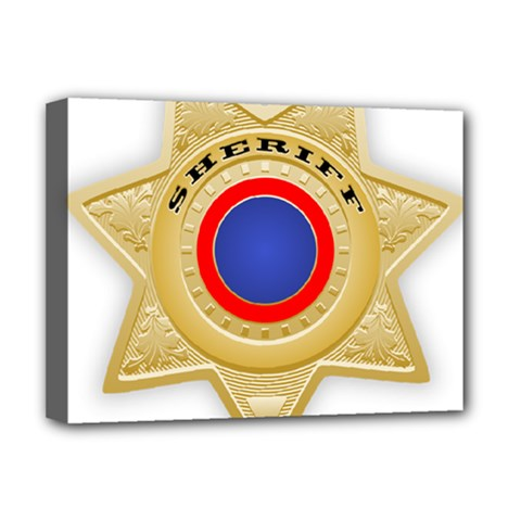 Sheriff S Star Sheriff Star Chief Deluxe Canvas 16  x 12